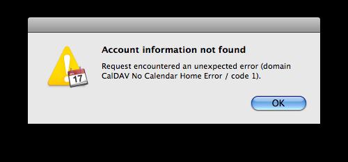 iCal error